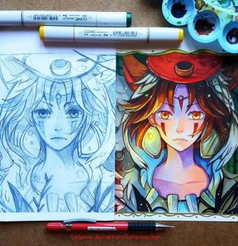 +Mononoke - Before and After+ by larienne