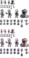 Red Sprites for R/G/B/Y by Ghost-MissingNo