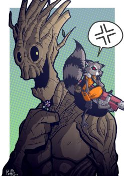 Rocket and Groot - Guardians of the Galaxy by PaperMoon92