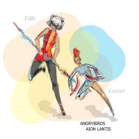 Aion charachters: Chanter and Assasin by msFiBi