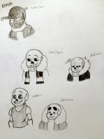 The many sanses (Including my bean) by AndHisPalMugMan