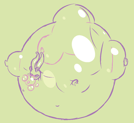 Bubble Goodra Doodle by bo-the-sno