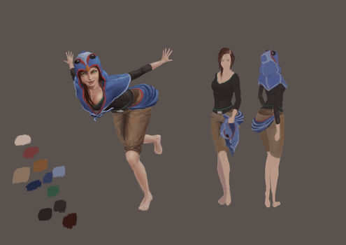 Character concept/sheet by LetsSaveQupo