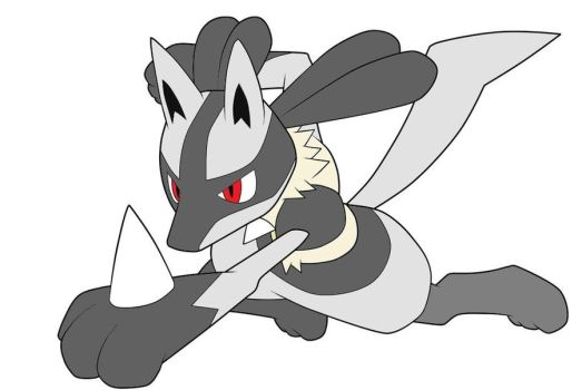 Silver Lucario by Wh1teW01f28