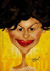 Audrey Tautou Caricature by libran005