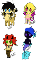 Chibi base adopts -SOLD- by RoseandherThorns
