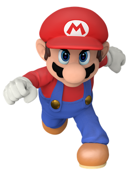 Super Smash Bros. Mario Render by Nintega-Dario