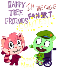 Happy Tree Friends: In the Cage [FANART CONTEST] by ArtsyGumi