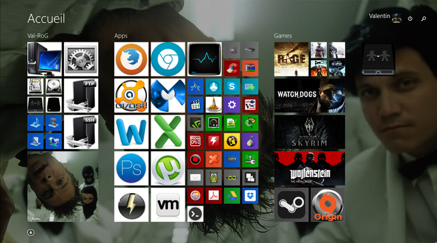 My Win8 Start Menu by valentin2105