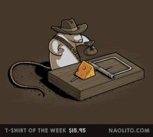 Indiana Mouse - T-shirt of the week by Naolito