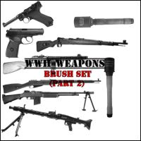 WWII Weapons Brush Set P2 by Brutaliz