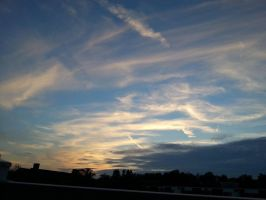 Summer Evening Sky From My Balcony by Slicenndice
