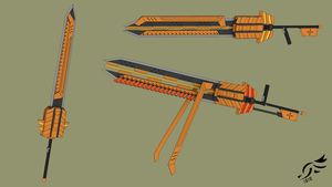 'Screaming Angel' - RWBY OC Weapon (Commission) by DenalCC1010