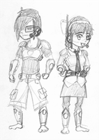 Tyler and Taylor in gear by RossAnime