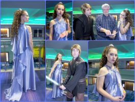 Padme Steel Blue Night Gown ROTS Cosplay by AmmieChan