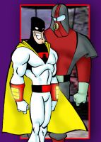 Space Ghost and Moltar by DangerFace