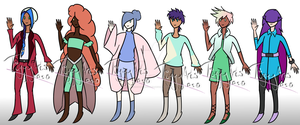 Human Adopt Batch 3 (REDUCED 15 POINTS - CLOSED) by DragonSpaceDoodler