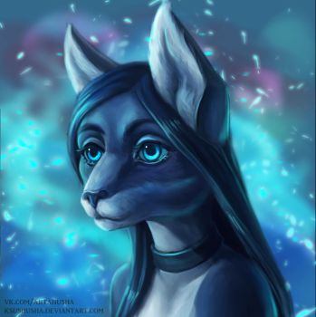 portrait blue by KsuShusha