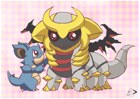 Nidoqueen and Giratina