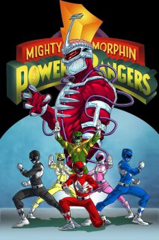 Mighty Morphin Power Rangers Fan Comic Cover by TactusVamp