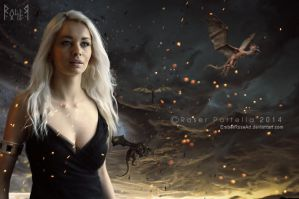 Mother of dragons by EmberRoseArt