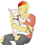 [Art Trade] Lari and His Pup by IisaDewshine