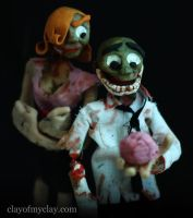 'Dead Love' Puppets by Clayofmyclay