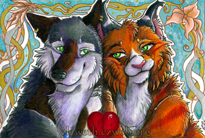 ACEO: Love is in the air by Eleweth
