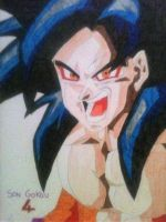 Son Gokou in SSJ4 from a poster by DarkSchneider62