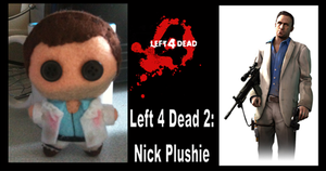 left 4 dead 2 nick plushie by Jack-O-AllTrades