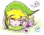 Link and Zelda_^3^ by Iwama-chan