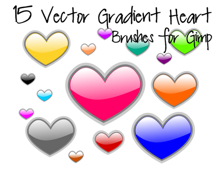 15 Vector Gradient Heart Brushes by madaline-7