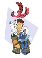 Team Blue Paladin for Pokemon Sun and Moon! by StrixMoonwing