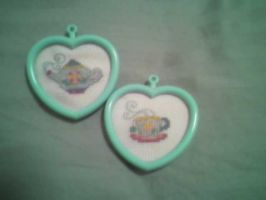 Tea pot and cup cross-stitch by TinyBunny