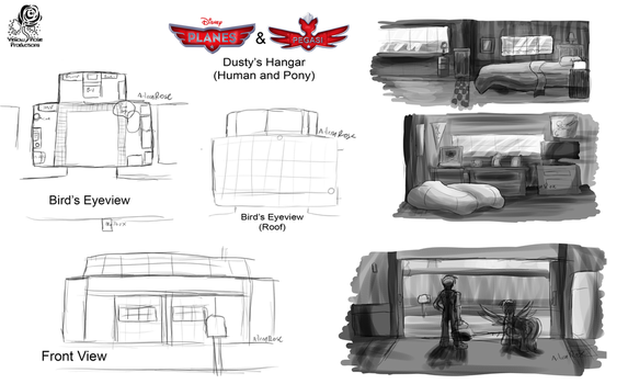 DreamRevelation 2 Planes And Pegasi Dustys Home Concept Artwork By Aileen Rose