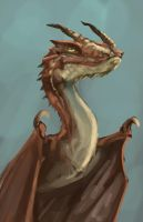 Red Thorn Dragon by Ziggafee