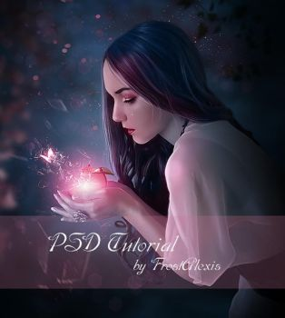 Shattered Fairytale PSD free tutorial by FrostAlexis