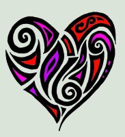 Abstract Tribal Heart with no sig by MelianMarionette
