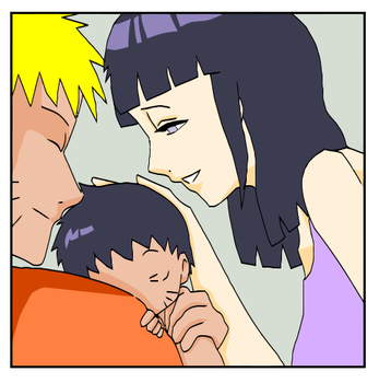 NaruHina family by kuki4982