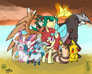 Misty Moonlight and the Ultra Six(redraw) by Superstar-Starly