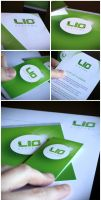 LIO SYSTEMS letterhead, businesscard and flyer by Nordfern