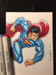 Superman Copic Doodle by amonkeyonacid
