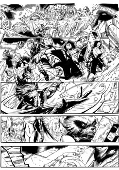 Guardians of the Galaxy sample page#1 inks by xavor85