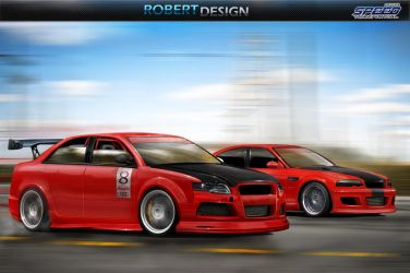 Audi RS4 X BMW M3 by Rob3rT----Design
