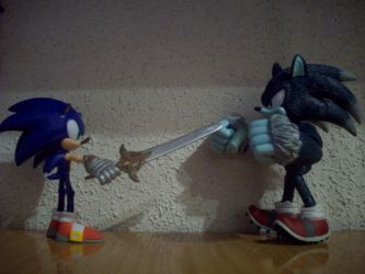 Sonic Knight vs Sonic Werehog by Joramchameleon
