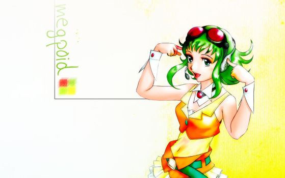 Gumi, Megpoid Wallpaper by Angelinstall