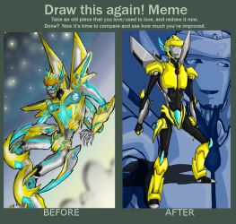 Meme: Before and after Sunbeam by Israel42