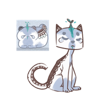 Decorated Bean Cat by SmasherlovesBunny500