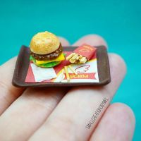 Miniature Burger and Fries by SmallCreationsByMel