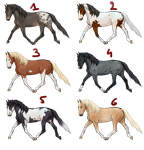 Realistic horse adoptables | *SOLD OUT* by Koekeldoedeltje